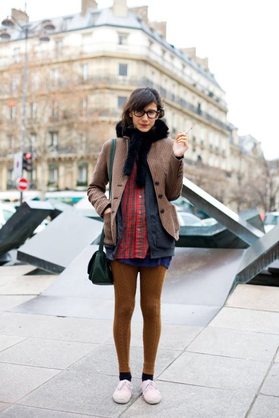 Hipster in plaid_photo by The Sartorialist